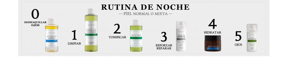 RUTINA DE NOCHE - PIEL NORMAL O MIXTA