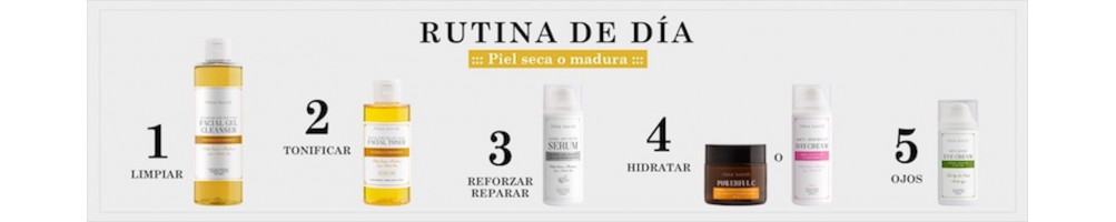 RUTINA DE DÍA - PIEL SECA O MADURA